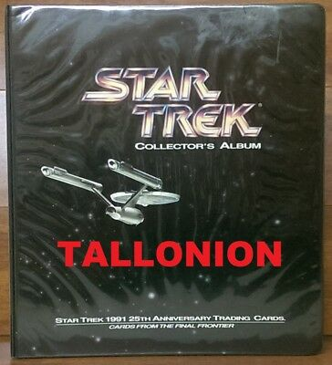 1991 Impel Star Trek 25th Anniversary Trading Card Binder  No Card Included