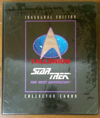 1992 Impel Star Trek TNG The Next Generation Inagural Clamshell Binder Only