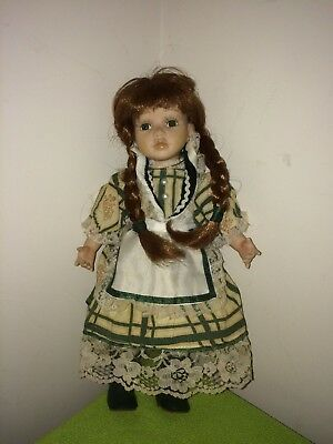 Collectable Porcelain doll 10 inches Regency Fine Arts Labelled Jill