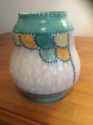 "Charlotte Rhead ""Patch"" pattern vase."