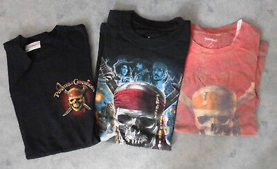 3 T Shirts - Pirates of the Caribbean aus Disneyland Gr. 36