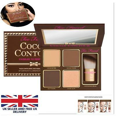 Too Faced Cocoa Face Contour Kit Make Up Highlighter Bronzer Palette perfection