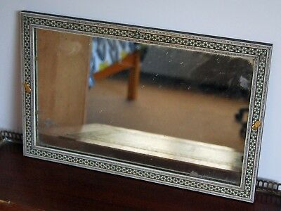 Anglo Indian Antique Rosewood and Sadeli Mirror 1850