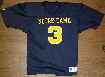Vintage Champion Notre Dame Fighting Irish Joe Montana Football Jersey  Large L d9fa6a4ad