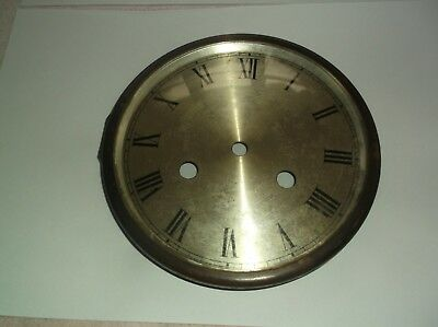 GLASS / RIM/FACE  FROM AN OLD   MANTLE CLOCK  OUTER 6 1/4 inch diam  REF JP2