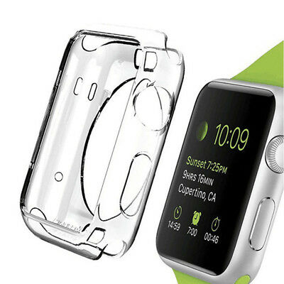 Für Apple Watch iWatch 38mm/42mm Clear TPU Gummi Protect StoßStange Case Cover