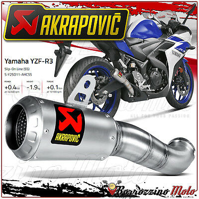 Akrapovic S-Y2So11-Ahcss Auspuffanlage Slip-On Inox Racing Yamaha Yzfr3 Jahr 16