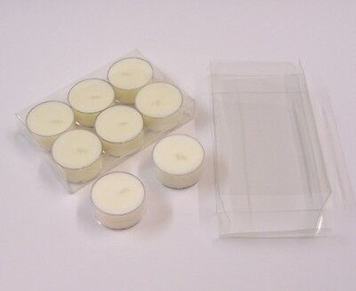 25 Clear Tealight (candles) Presentation Packaging Boxes 120mm x 78mm x 22mm