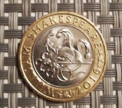 £2 coin William Shakespeare Comedies 2016 two pound coin Jester comedy