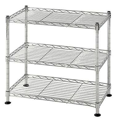 Muscle Rack WS181018-C Steel Adjustable Wire Shelving, 3 Shelves, Chrome