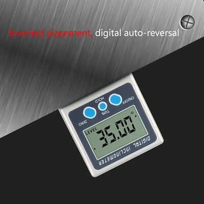 Digital Box Gauge Angle Protractor Level Inclinometer Magnetic Base ( 0 - 360° )