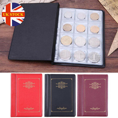 120 Album Coin Penny Money Storage Book Case Folder Holder Collection Collecting