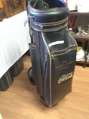 Coca cola GOLF BAG black leather Memphis publinx champion 1996