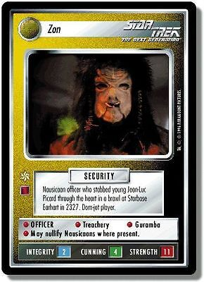 Star Trek CCG QC Q-Continuum Zon