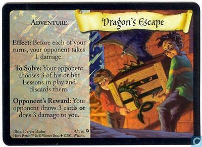 Harry Potter TCG Base Set Dragon's Escape FOIL 4/116