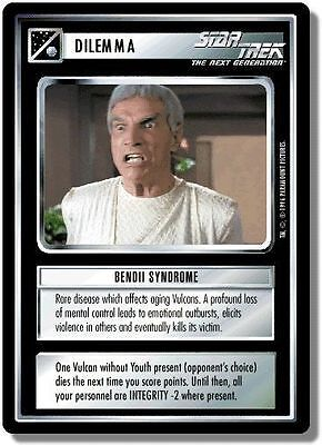 Star Trek CCG QC Q-Continuum Bendii Syndrome