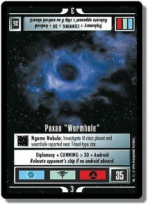 "Star Trek CCG QC Q-Continuum Paxan ""Wormhole"""