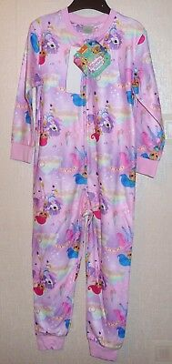 GIRLS EX-TESCO OFFICIAL SHIMMER AND SHINE ALL IN ONE FLEECE PYJAMAS 2-3 to 6-7
