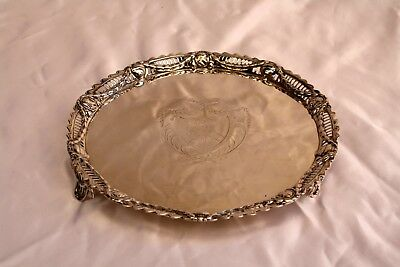 Magnificent English George Iii. Sterling Silver Salver By John Carter Ii.