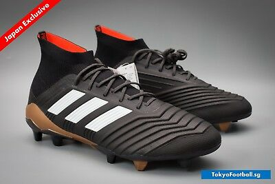 5bf61c6cd915 Adidas Predator 18.1 FG AG Carbon Black White football soccer cleats boots