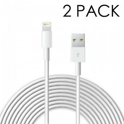 2 Pack OEM 2M Apple Lightning to USB Charging Cord Cable iPhone X 8 7 Plus 6S 6