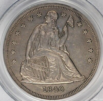 1840 Seated Liberty Dollar PCGS XF45 #AVC0918