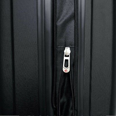 """Travelers Club 20"""" Expandable ABS Hard Side Rolling Carry On Luggage, Black"""