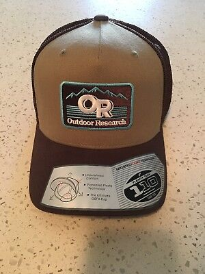 04b53d20e1b18 OR Outdoor Research Advocate Trucker Cap Hat Adjustable Snapback in Cafe
