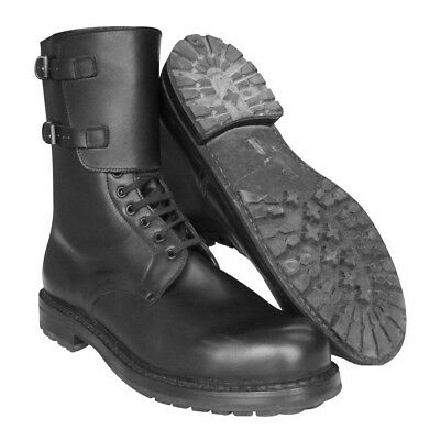 Large size New Italian army boots Black leather paratrooper para military combat