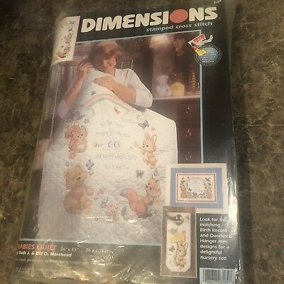 Dimensions Nursery God's Babies Embroidery Quilt Crib Cover Kit 3184 Morehead