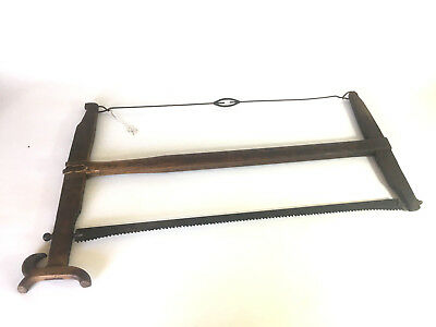 Vintage Rare Unusual Large Bow Saw Colectible Primitive Old Hand Tools