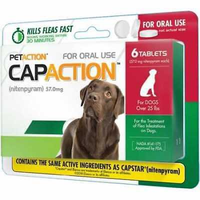CapAction for Dogs 57mg (over 25 lbs) - 6 Tablets