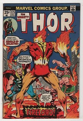 Thor #225 nice copy 1st appearance Firelord 1974 Buscema Marvel create-a-lot