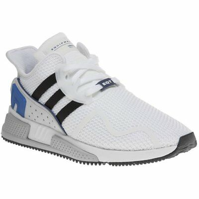 New Mens adidas White EQT Cushion ADV Nylon Trainers Running Style Lace Up