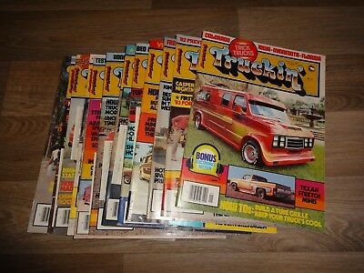 VTG 1982  Truckin' Magazine Lot of 12 - Complete Year - Vol. 8, Issues 1-12 vans