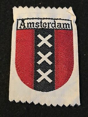 AMSTERDAM Vintage Textile Patch NETHERLANDS Holland Souvenir Travel Ecusson