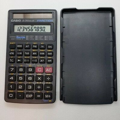 Casio FX-260 Solar Scientific Calculator Black Fraction Tested Works