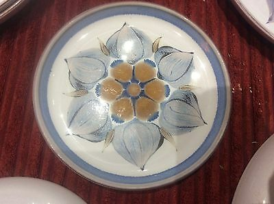 Denby  Langley Pottery Chatsworth Pattern Side Plate Handpainted Stoneware 6.5""