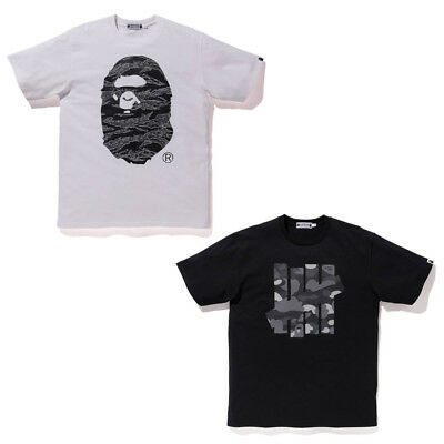 f1df4df07 Undefeated x BAPE UNDFTD A Bathing Ape Mens Tee T-Shirt White Black Camo