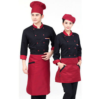Chef Coat Jacket Chefs Black Coat Chefwear Unisex Good Quality X/Xl/Xxl/Xxxl