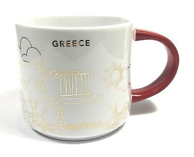 Starbucks 'You Are Here' GREECE YAH Limited Christmas 2018 Holiday Red City Mug!
