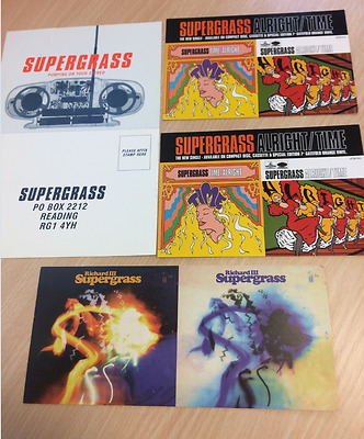 SUPERGRASS - Richard the III / pumping on your stereo / Time - Promo Postcards