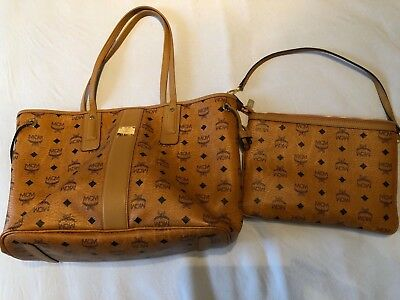 MCM LIZ VISETOS Shopper Medium Cognac EUR 400,00 | PicClick DE