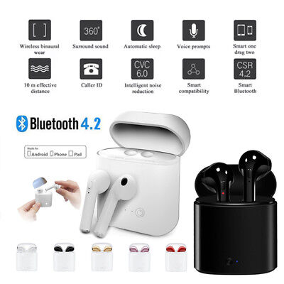 Wireless Bluetooth Earphones Headphones Earbuds For Apple iPhone w/ Charging Box