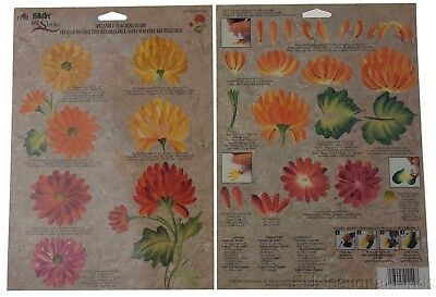 FolkArt One Stroke Reusable Painting Teaching Guide Lot 35 Chrysanthemum 1149