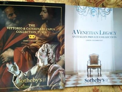 2 Sotheby's catalogues on Italian furniture, paintings and works of art