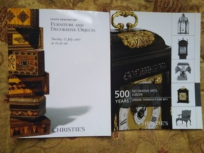 2 Christie's catalogues: 500 years decorative arts Europe and other