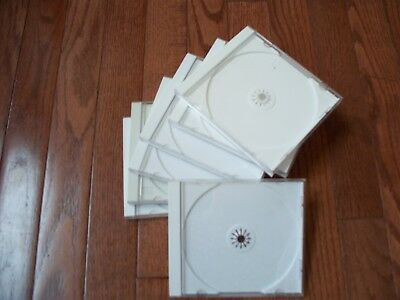 Lots of 7 Pcs Standard Clear CD/DVD Jewel Cases, Slightly Used