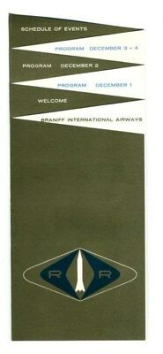 1959 Braniff International Airways Sales Conference Brochure Dallas Texas