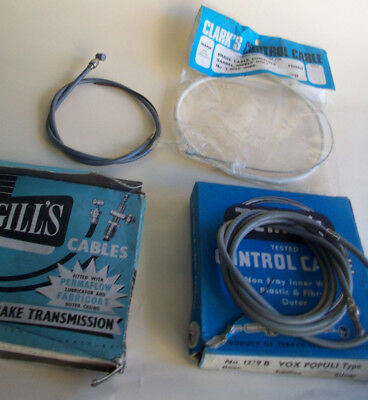 Job Lot Of 4 Vintage Cycle Brake Cables  N.o.s